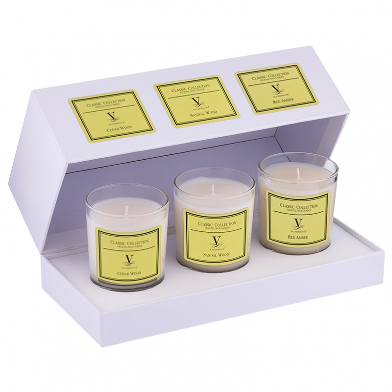 Pack 3 velas Caravelle Madera